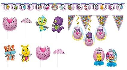 Amazon.com: hatchimals fiesta decoración Fun Pack – Pancarta ...