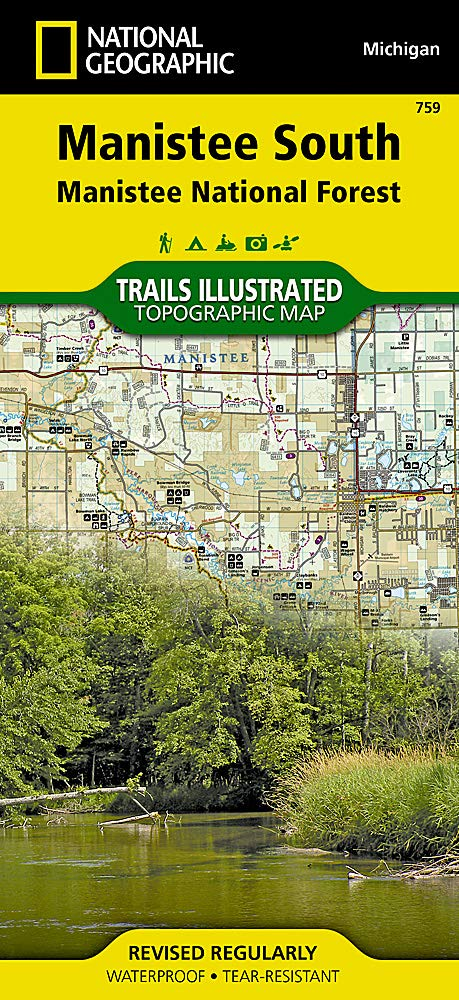 Manistee South  Manistee National Forest   National Geographic Trails Illustrated Map Band 759