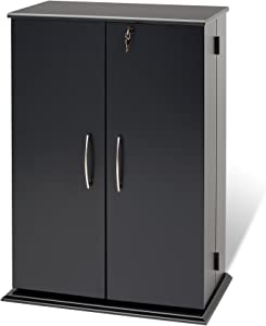 Prepac Locking MediaStorage Cabinet, Black