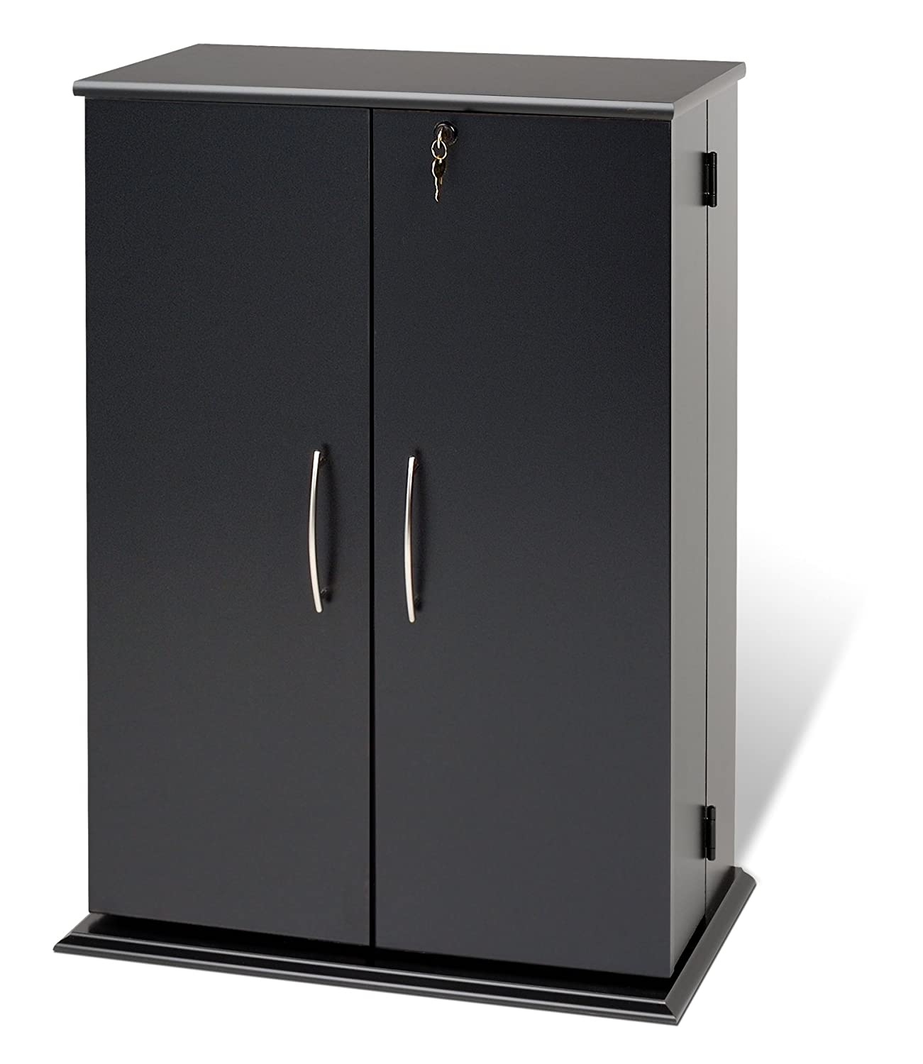 Lockable Dvd Storage Cabinet Amazoncom Cherry Black Locking Media Storage Cabinet Kitchen