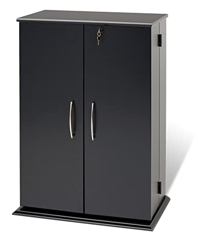 Etonnant Prepac Locking Media Storage Cabinet, Black