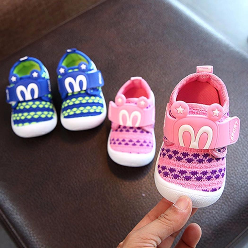 Transer Enfants Cartoon Star Lapin Oreilles grincement Chaussures Sneaker