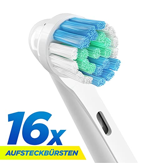ORAX Aufsätze für Oral B Aufsteckbürsten, 16 Stück, 4x4-er Pack, 1 Jahr Versorgung für die ganze Familie