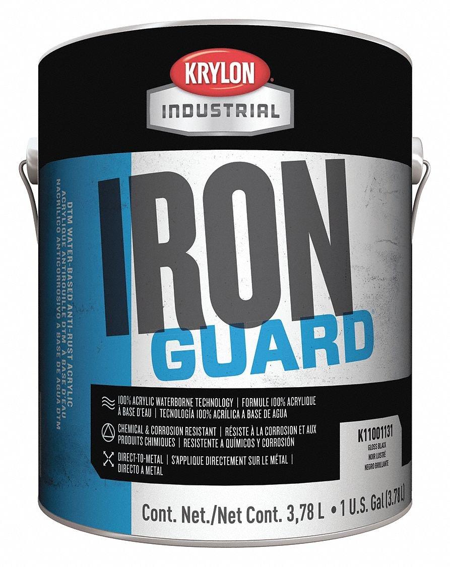 Krylon 1 Gallon Safety Yellow (OSHA) Iron Guard Water Based Anti-Rust Acrylic Enamel