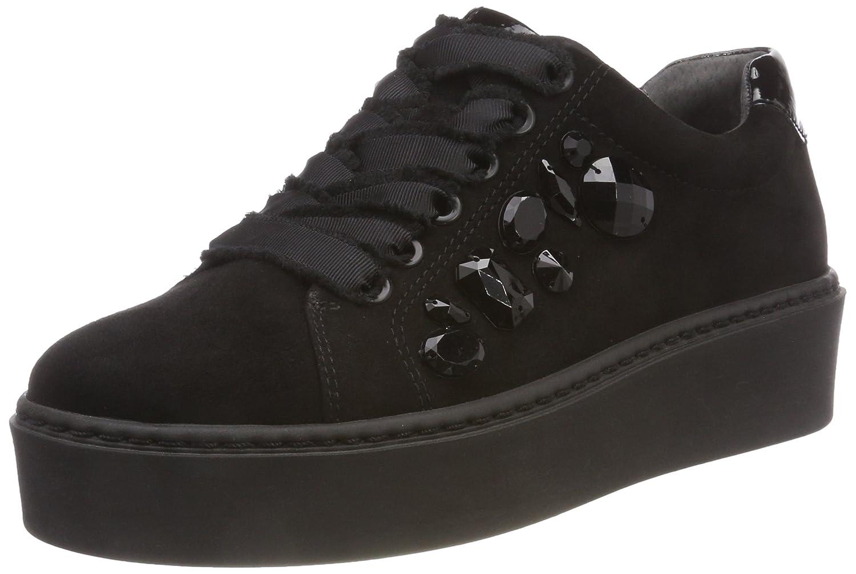 Tamaris 23702, Zapatos de Cordones Derby para Mujer 36 EU|Negro (Black/Black 056)
