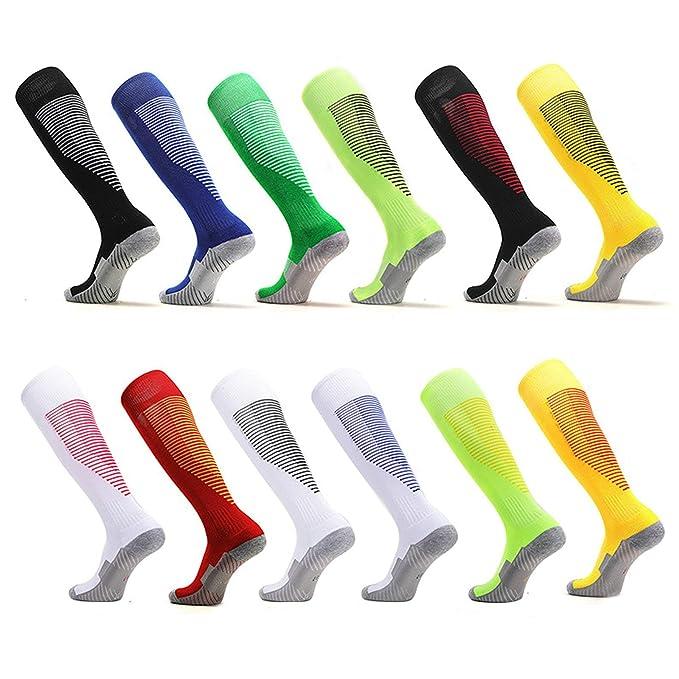 AnaZoz Calcetines Futbol Hombre Calcetines Hombre Calcetines Deporte Transpirables Calcetines Largo Calcetines Futbol Estilo-A(1-6): Amazon.es: Ropa y ...