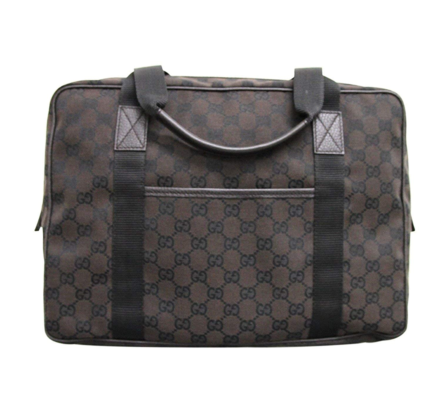 36ed35964147 Amazon.com: Gucci Unisex Brown Canvas Laptop Tote Bag Shoulder Handbag  282529: Shoes