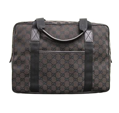 add9827b6bf Amazon.com  Gucci Unisex Brown Canvas Laptop Tote Bag Shoulder Handbag  282529  Shoes