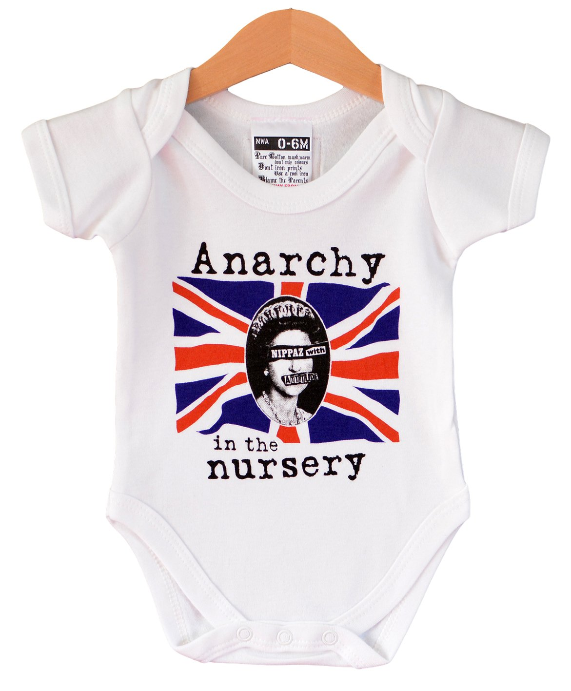4dc4a140e7c5 Anarchy in the Nursery - Punk baby bodyvest. Cool gift for a baby ...