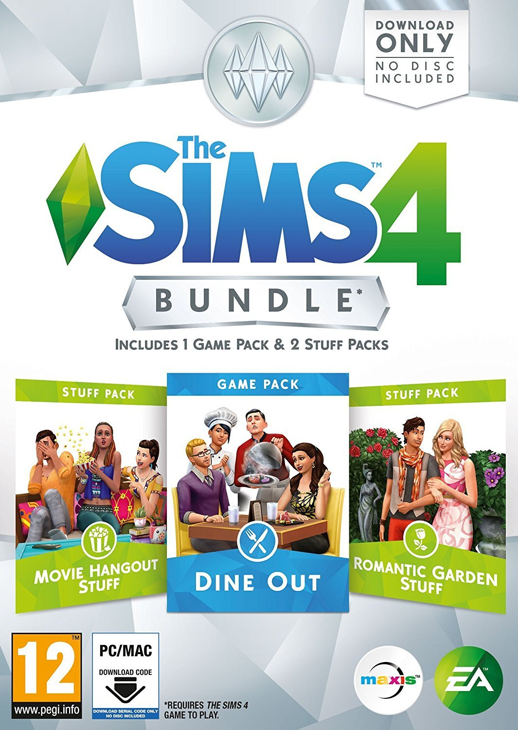 amazon the sims 4 bundle pack 5 pc code download only 輸入版