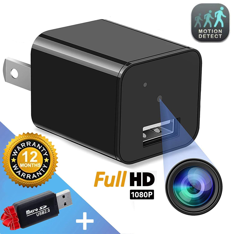 Hidden Camera - Mini Spy Camera - Motion Detection - USB Charger Camera - Hidden Spy Cam - Hidden Nanny Cam - Home Surveillance Security Camera Full HD 1080P - No Wi-Fi Needed by APACAM