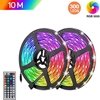 Fuente de alimentación 12V 5m 10m 5050 RGB LED Tira Luz 12V controlador Bluetooth