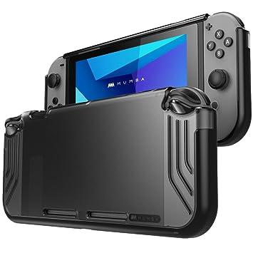 Mumba Carcasa Nintendo Switch, [Slimfit Series] Funda Delgada Híbrida para Nintendo Switch (Negro)