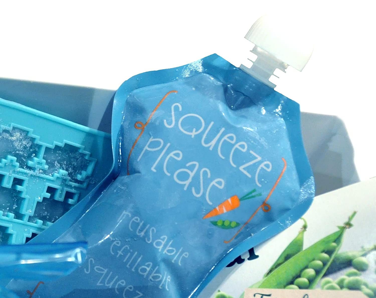 Squeeze Please Reusable Food Pouches for Toddlers, Pre-Schoolers ...