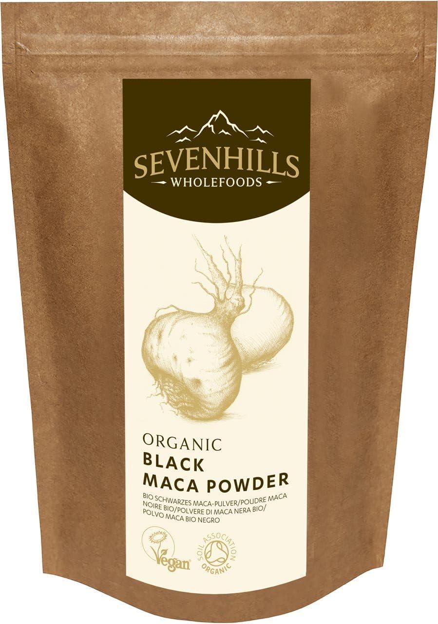 Sevenhills Wholefoods Maca Negra Cruda En Polvo Orgánico 250g ...