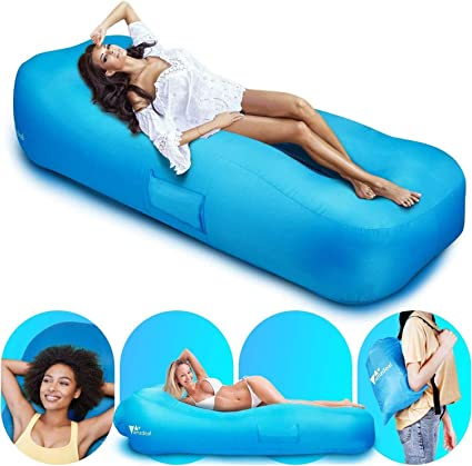 Air Sofa Blow Up Lounge Sofa Breathable Lumbar Support for Beach Chair Camping