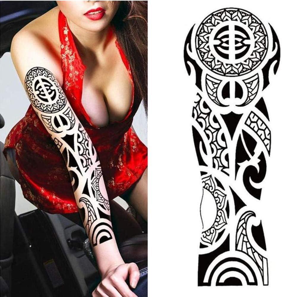 Tatuajes temporales con símbolo maorí, para hombre y mujer ...