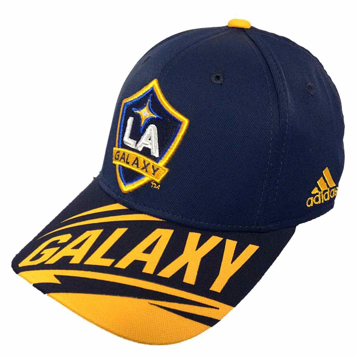 La Galaxy MLS Adidas Navy Miracleパッチ溶接1つadj.ハットキャップ B01C1ZBKXC