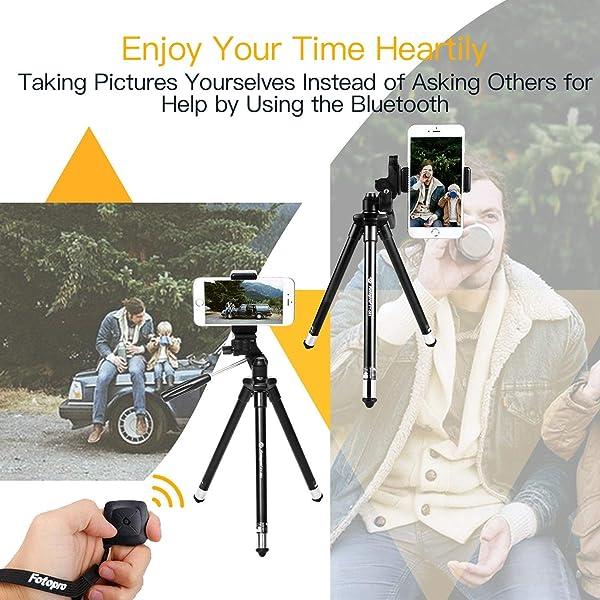 FOTOPRO IPHONE TRÍPODE 39.5 PULGADAS Cámara de aluminio con control remoto Bluetooth a