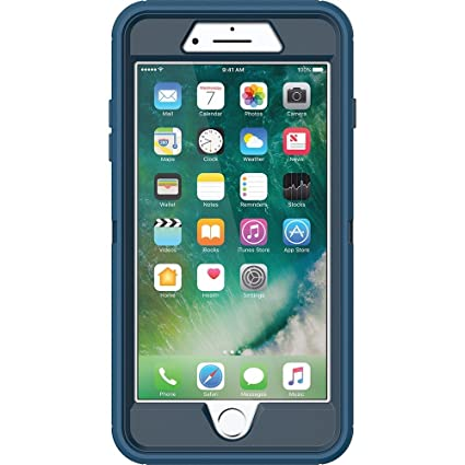 promo code ca5a8 4e7b4 OtterBox DEFENDER SERIES Case for iPhone 7 Plus (ONLY) - Retail Packaging -  Bespoke Way (Blazer Blue/Stormy Seas Blue)