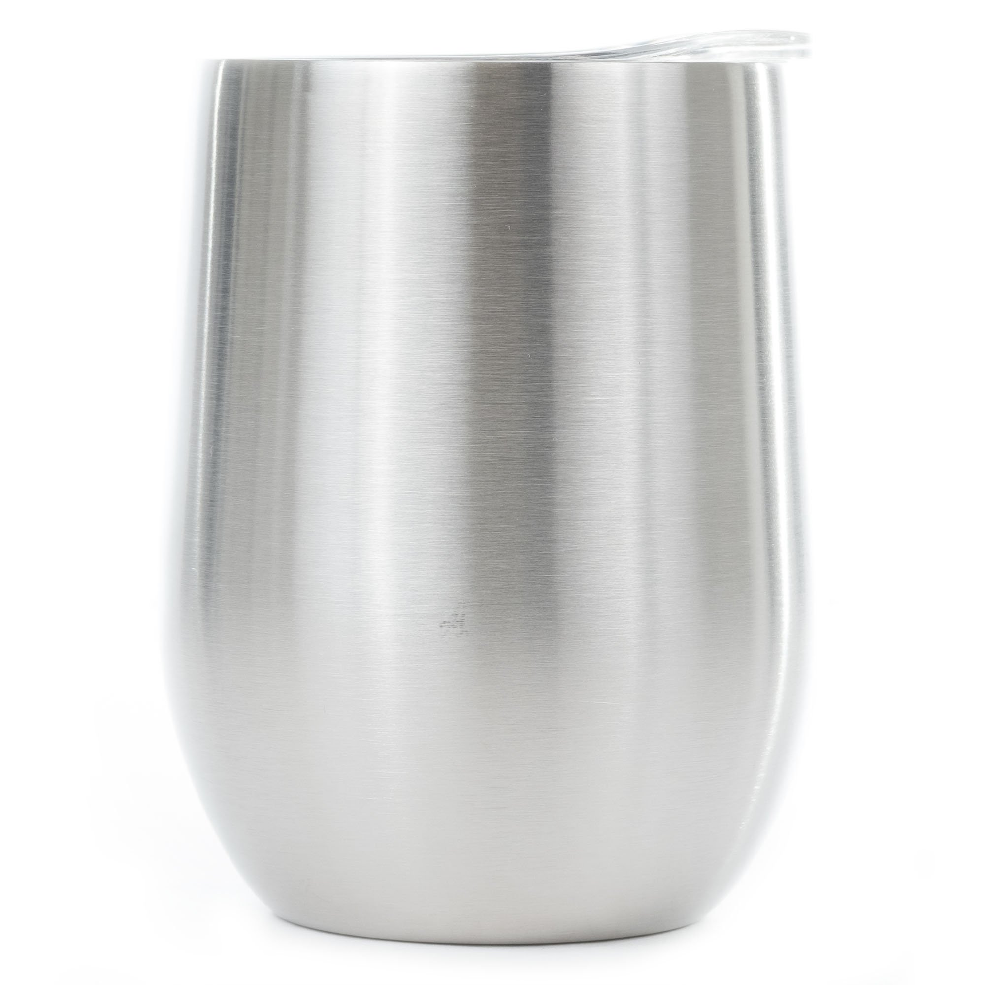 12 oz Stemless Stainless Steel Wine Tumbler - Dual Wall Vacuum Insulated - Ideal for Red Wine, Liquors and other beverages - Keeps Ice Cold and Hot
