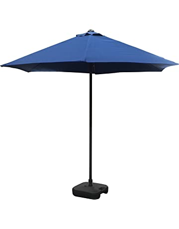 0be068aaae8d Schallen 2.7M Sturdy Straight UV50 Sun Umbrella Parasol for Outdoor, Garden  and Patio