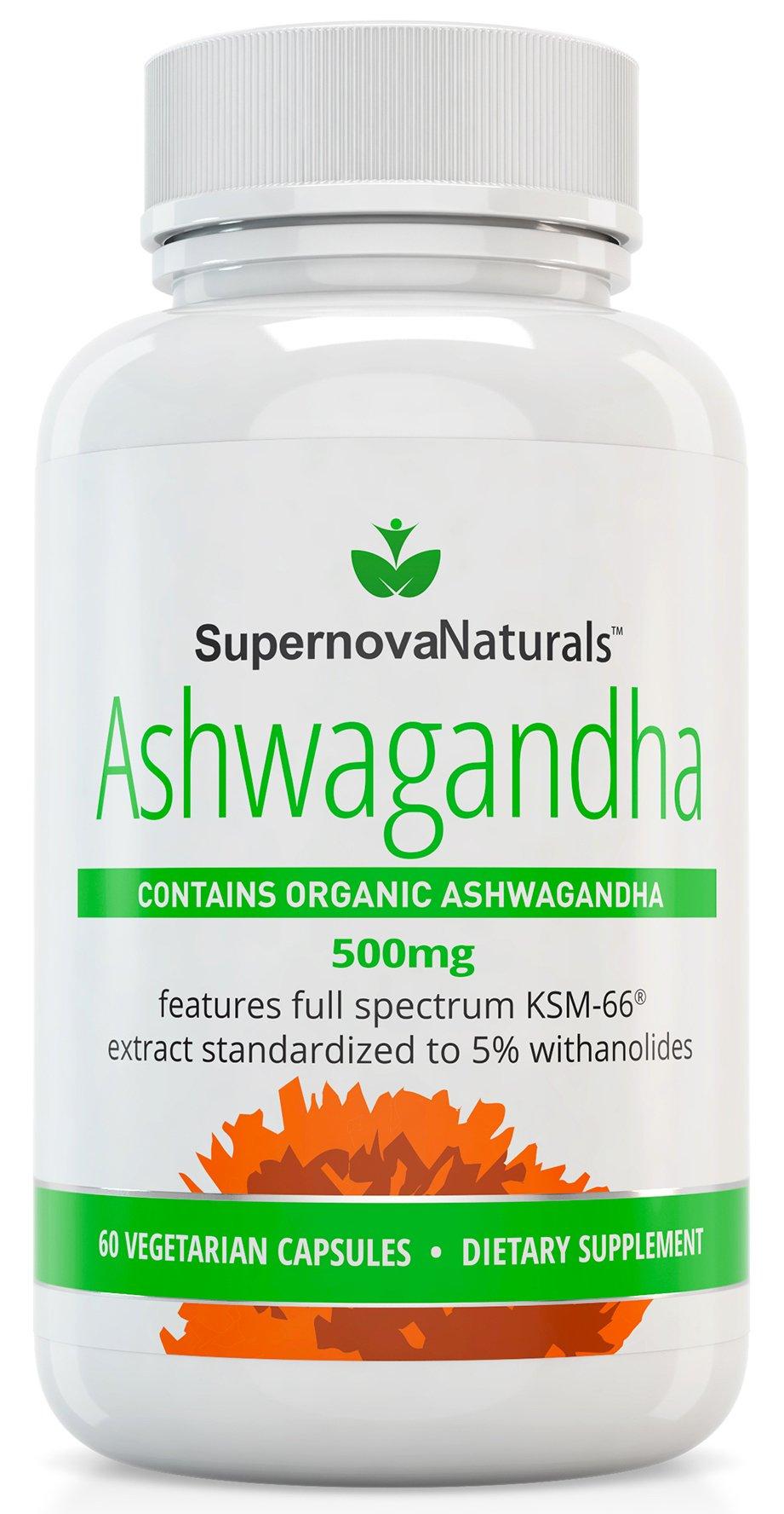 Supernova Naturals Organic Ashwagandha KSM-66 500mg
