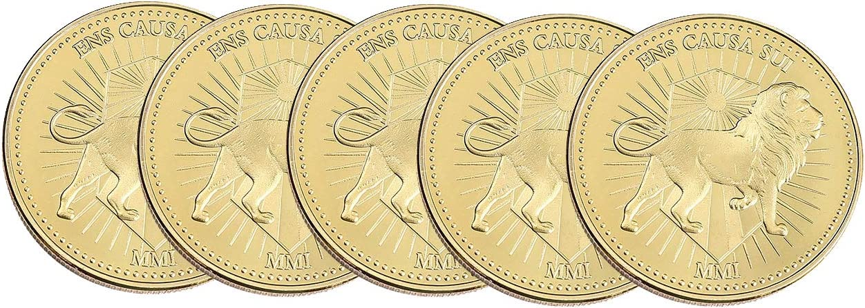 Continental Gold Coin Collecting Metal Coin (5 pcs)