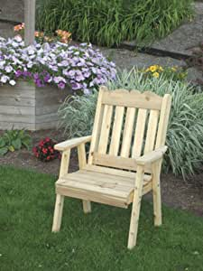 Outdoor Royal English Dining Lawn Chair - PAINTED- Amish Made USA -Tropical Lime