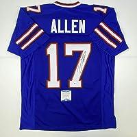 $499 » Autographed/Signed Josh Allen Buffalo Blue Football Jersey Beckett BAS COA