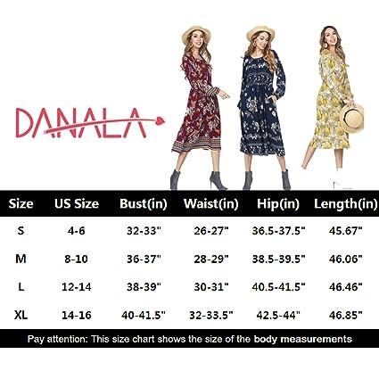 73c625f222295 DANALA Women's Boho Dress Long Sleeve Floral Print Midi Dresses Pockets  Empire Waist Pleated Long Dresses at Amazon Women's Clothing store: