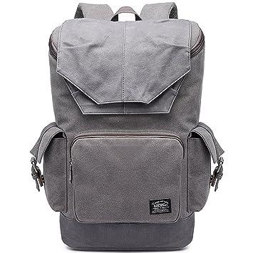 Bolso de hombro de los hombres de la lona de las mochilas viaje multifuncional que camina ...