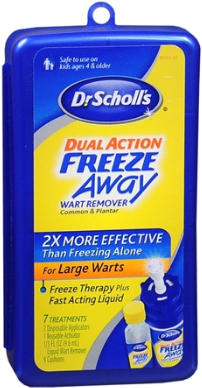 Dr. Scholl's Dual Action Freeze Away Wart Remover 7 Each (Pack of 3) by Dr. Scholl's