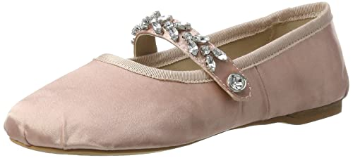 Buffalo London Damen 216-6124 Satin Geschlossene Ballerinas