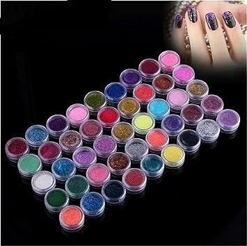 Amazon 45pc nail art glitter powder dust tips decoration by 45pc nail art glitter powder dust tips decoration by nykkola prinsesfo Image collections