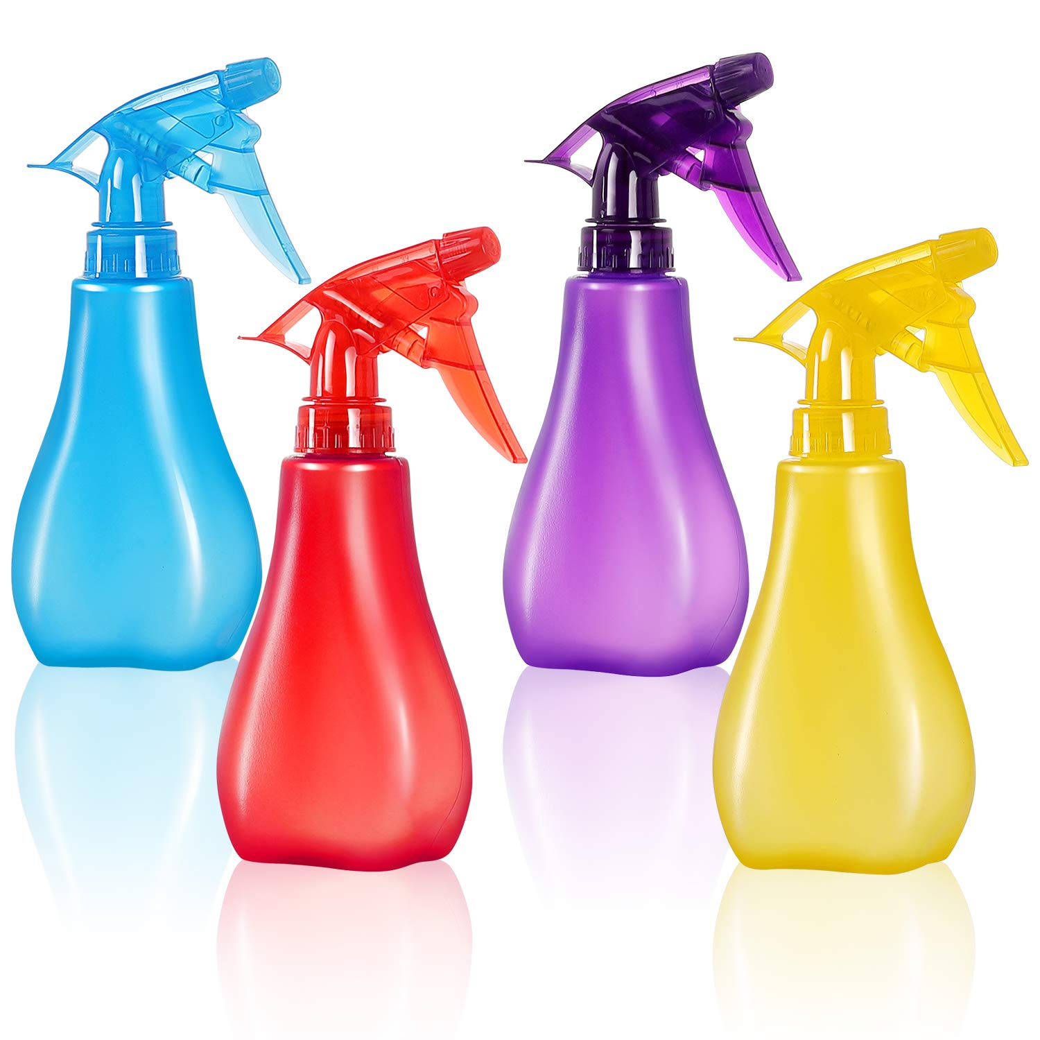 GTANG Pack of 4-8 Oz Empty Plastic Spray Bottles - Attractive Vibrant Colors - Multi Purpose Use Durable BPA Free, Empty Spray Bottle with Adjustable Nozzle for Beauty Gardening, Kitchen and Bathroom