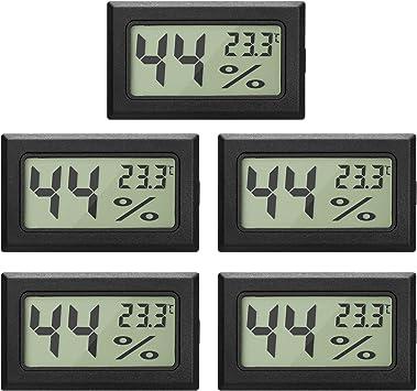 5x Mini Digital LCD Thermometer Hygrometer Luftfeuchte Temperatur incl Batterien