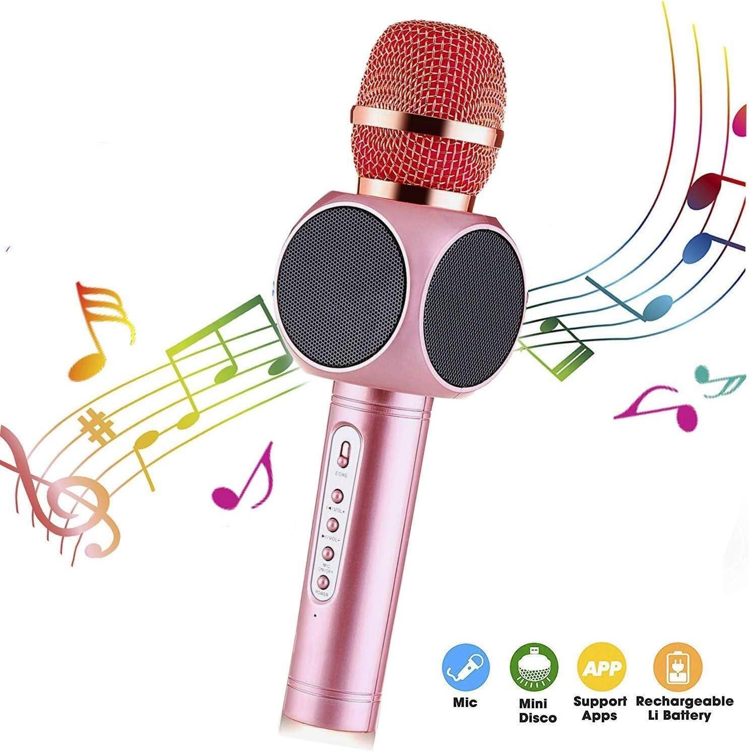 DSAEFG Micrófono inalámbrico Karaoke, Altavoz Reproductor de ...