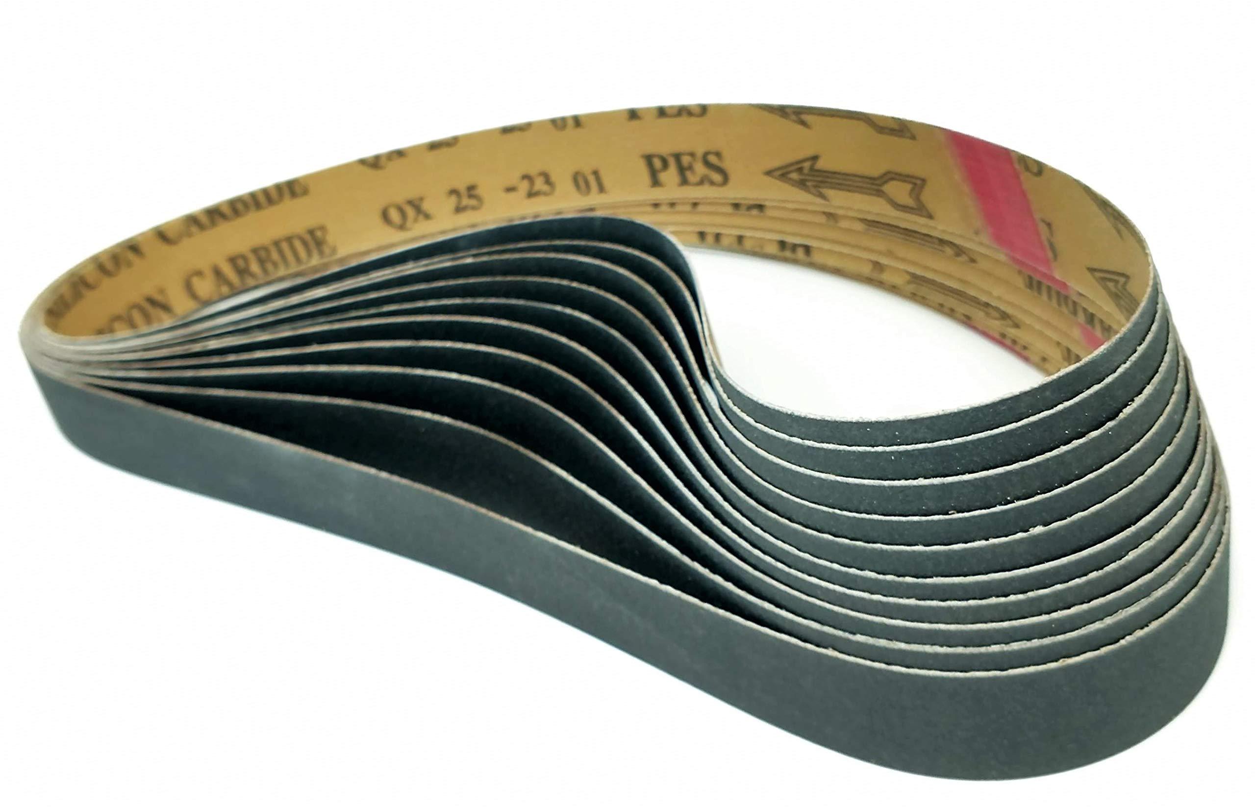 Sungold Abrasives 038797 600 Grit Cloth Sanding Belt Premium Industrial Silicon Carbide 1 x 30 1 x 30 10 Belts