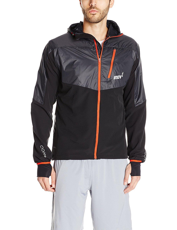 inov-8 Men's Race Elite 315 Softshell Jacket Black/Black/Red Large [並行輸入品]   B075K7PC7W