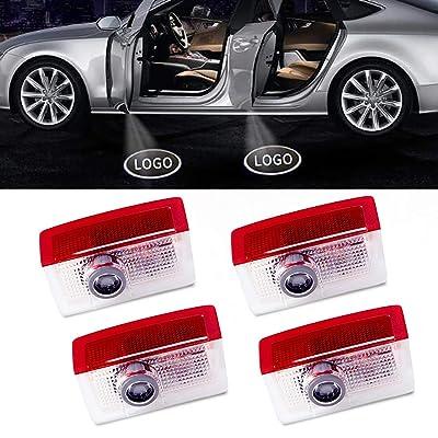 4Pcs LED Car Logo Lights Ghost Light Door Light Projector Welcome Accessories Emblem Lamp (Mercedes Benz): Automotive