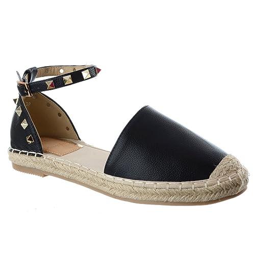 Da Donna con Plateau Zeppa Tacco Sandali Espadrillas con borchie estate scarpe taglia