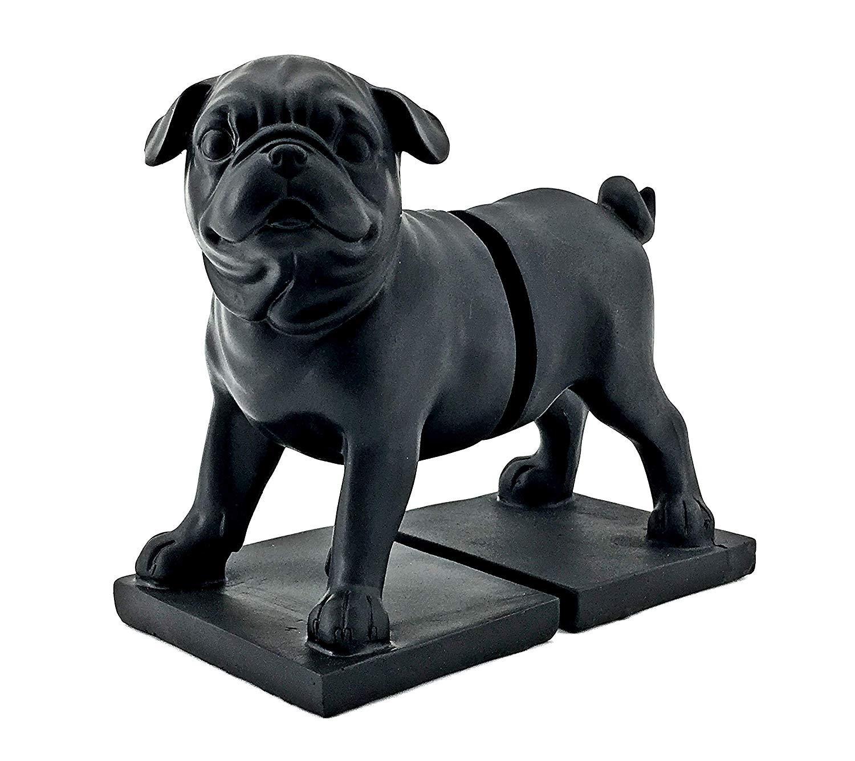 Bellaa 24360 Pug Dog Bookends Mascot Bulldog Statues 8 inch by Bellaa