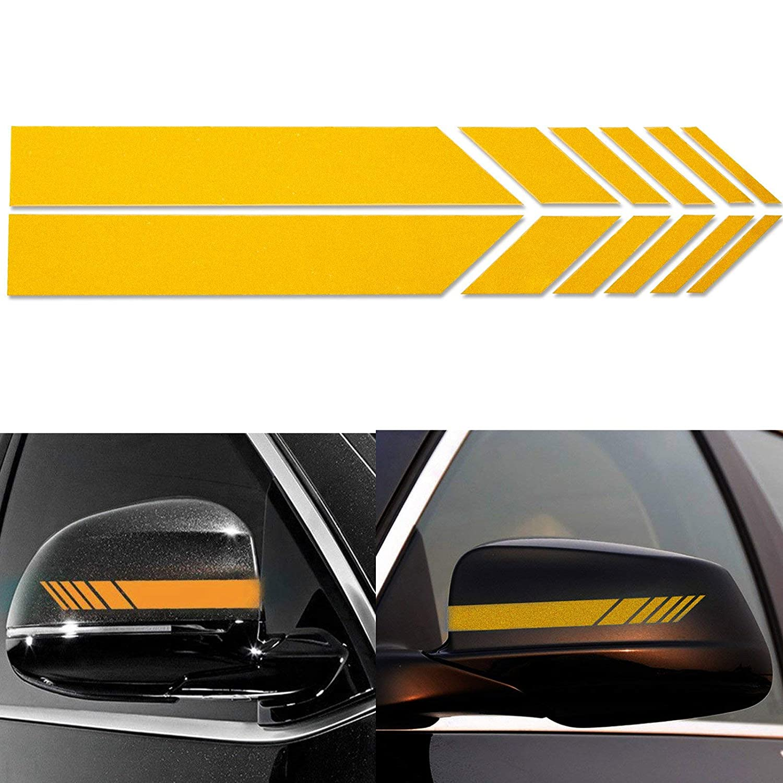 Amazon com xotic tech 2pcs orange amg style vinyl decals rearview mirror stripe stickers most mercedes benz w204 w212 c class etc automotive