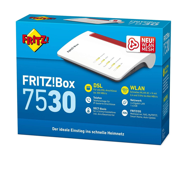 AVM Fritz Box 7530 High-End WLAN AC+N Router 5GHz2,4: Amazon.de ...