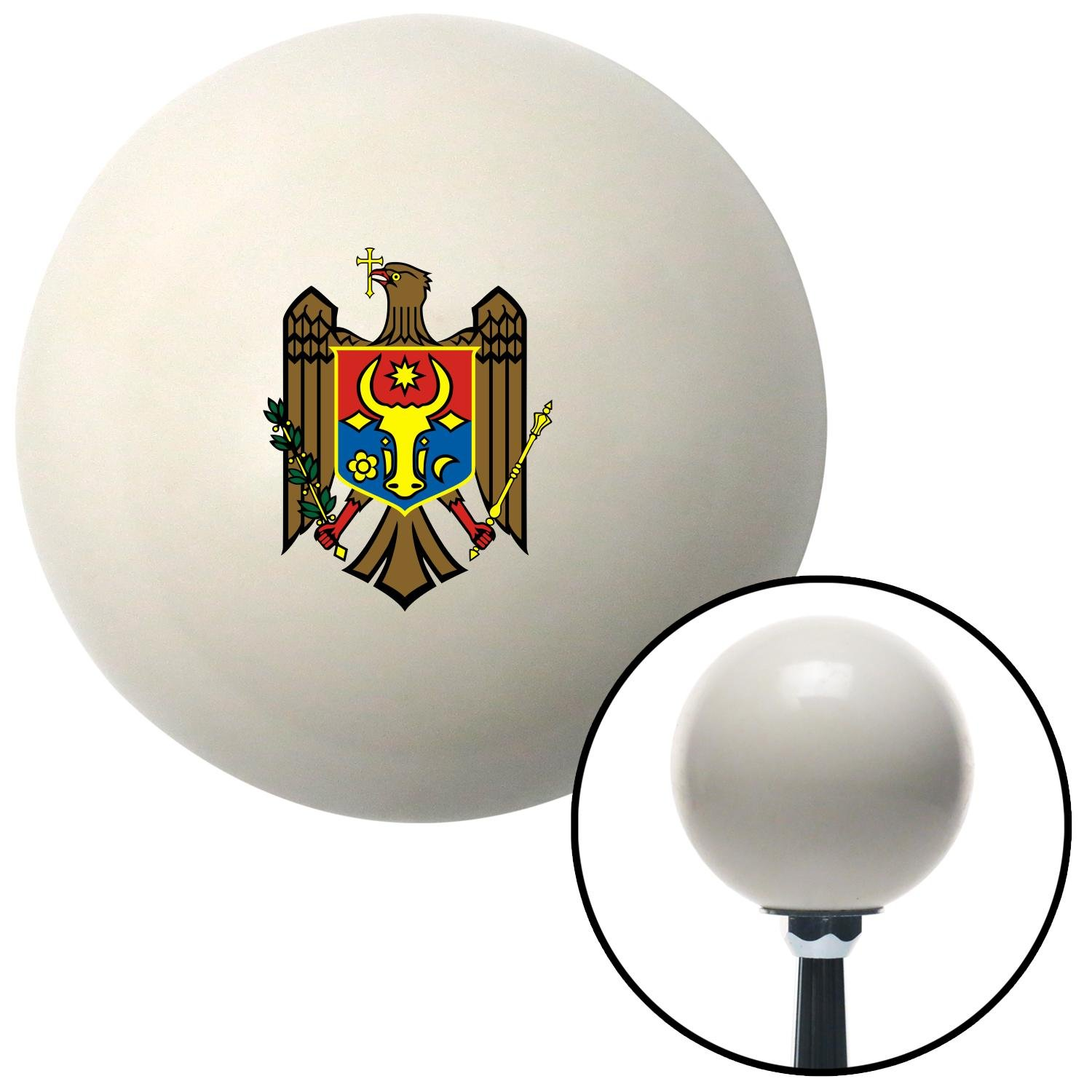 Brown Eagle Coat of Arms American Shifter 76097 Ivory Shift Knob with M16 x 1.5 Insert