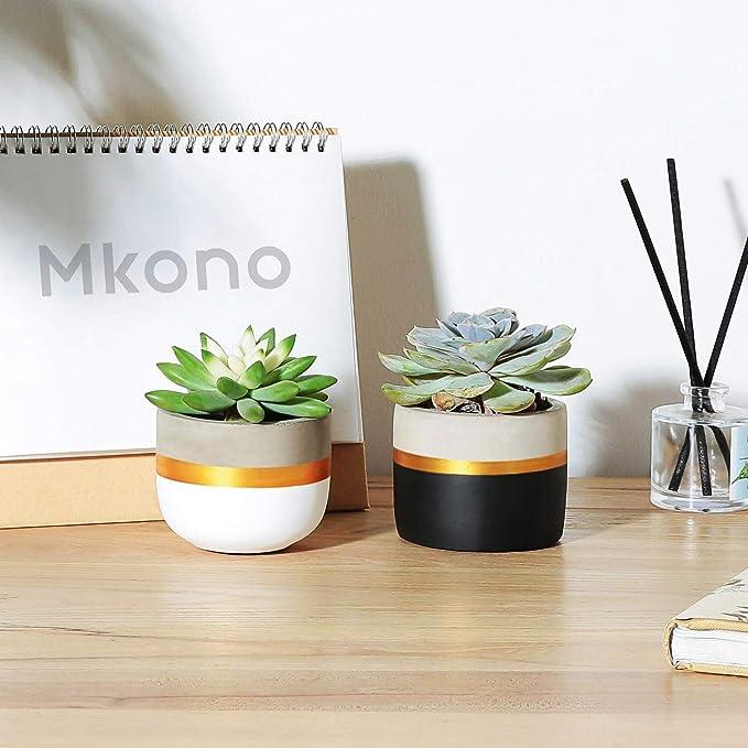 Mkono - Maceta pequeña de Cemento con Ventosa para hormigón ...