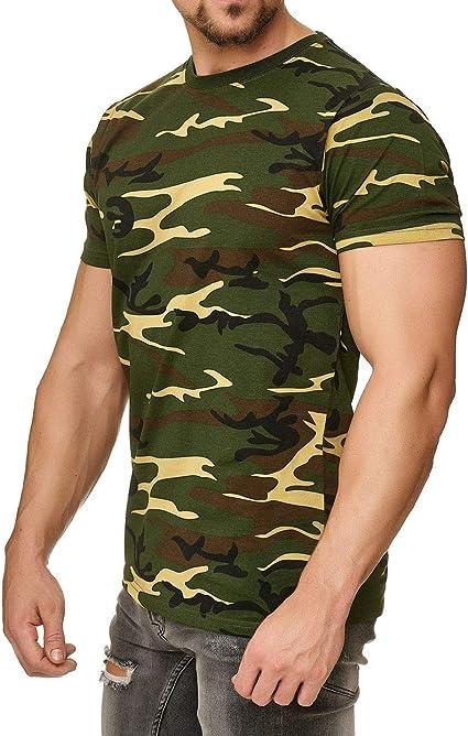 Happy Clothing Camiseta de Camuflaje para Hombre, Camiseta Militar: Amazon.es: Ropa y accesorios