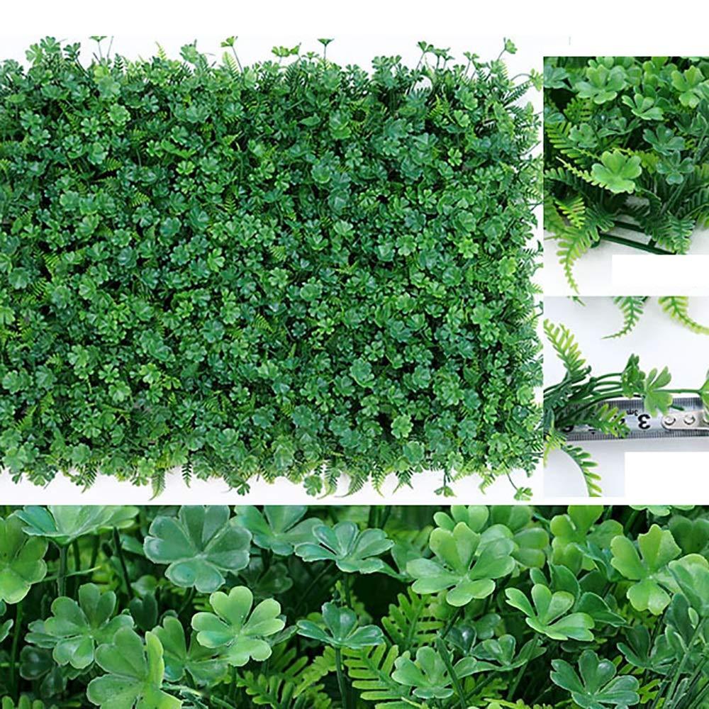 GAIGAI 人工芝壁、プラスチックの偽のヘビーデューティ草の葉、部屋の誕生日の背景、家の装飾、キッチン、庭、結婚式、パーティーの装飾、20個 B07SBLBMY5