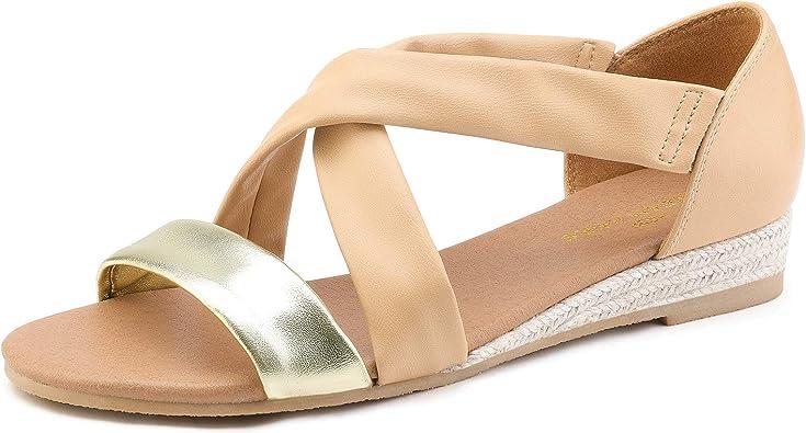 DREAM PAIRS Women's Low Wedge Sandals